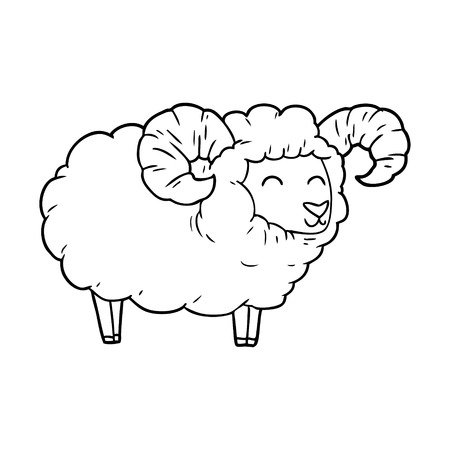 cartoon ram illustratie