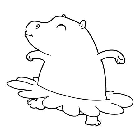 cartoon hippo ballerina