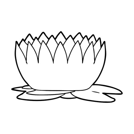 cartoon waterlily illustration