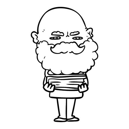 cartoon man with beard frowning