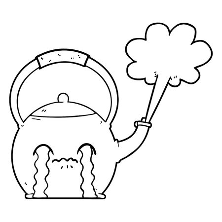 cartoon kokende ketel Vector Illustratie