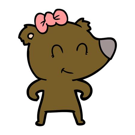 Cartone animato orso femmina Archivio Fotografico - 94848457