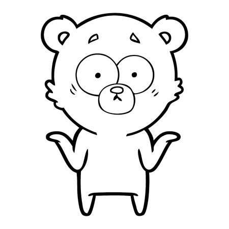 cartoon beer schouders ophalen