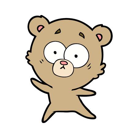 anxious bear cartoon Ilustrace
