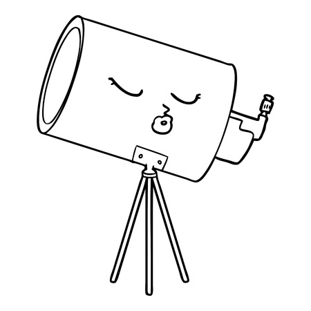 cartoon telescope with face