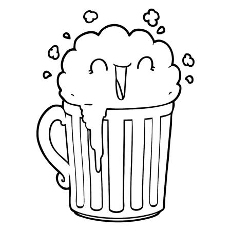 happy cartoon mug of beer