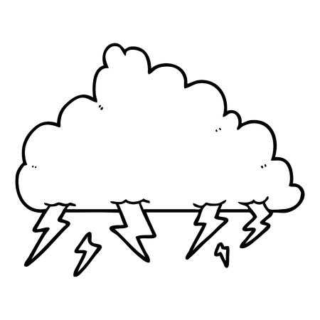 漫画の雷雲