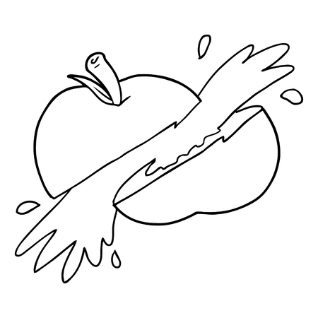 cartoon sliced apple