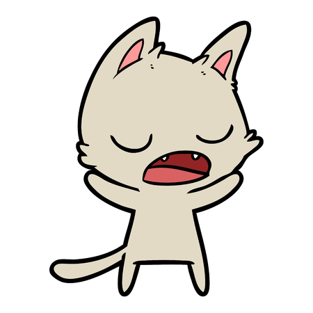 Sprechen Sie die Katze Standard-Bild - 94848689