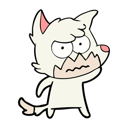 cartoon annoyed fox Çizim