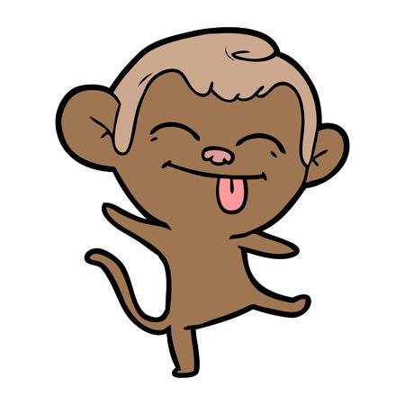 재미있는 만화 원숭이 춤 스톡 콘텐츠 - 94848970
