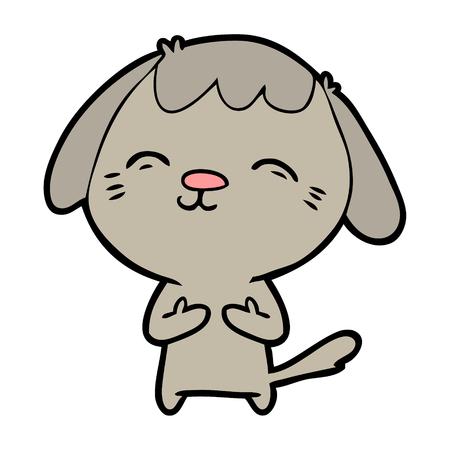 Happy cartoon hond Stockfoto - 94847709