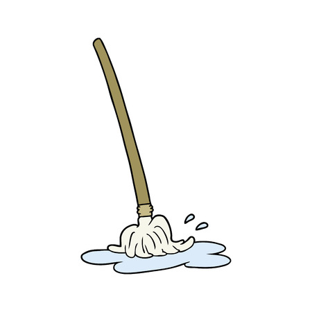 wet cartoon mop