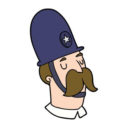 Cartoon policeman with mustache