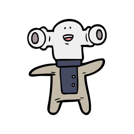 Estrangeiro amigável dos desenhos animados Foto de archivo - 94846898