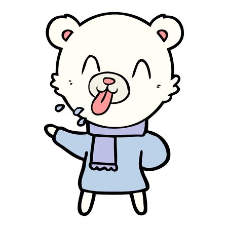 rude cartoon bear Ilustração