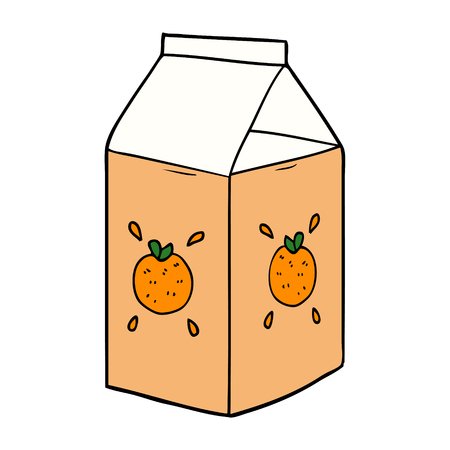 cartoon orange juice carton Zdjęcie Seryjne - 94849393