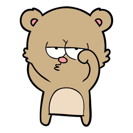 退屈なクマの漫画