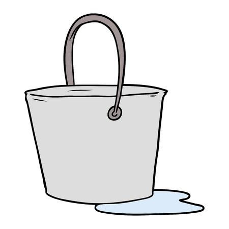 cartoon bucket of water Çizim
