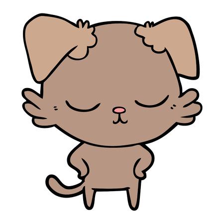 cute cartoon dog Ilustração