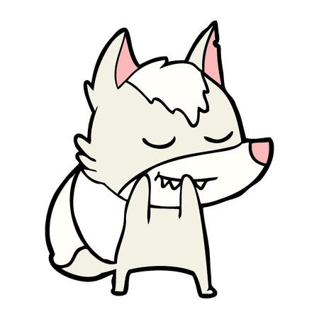 laughing cartoon wolf