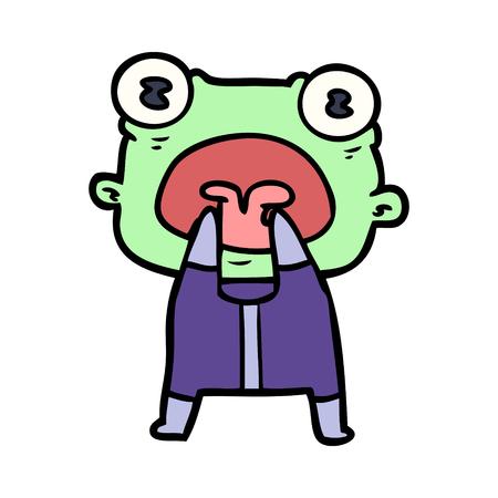 Estrangeiro estranho dos desenhos animados que comunica-se Foto de archivo - 94879756