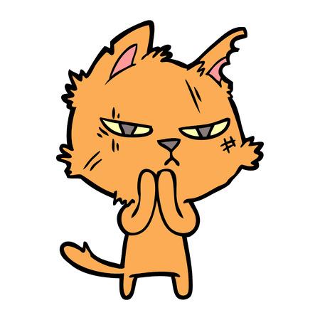 手描きタフな漫画の猫