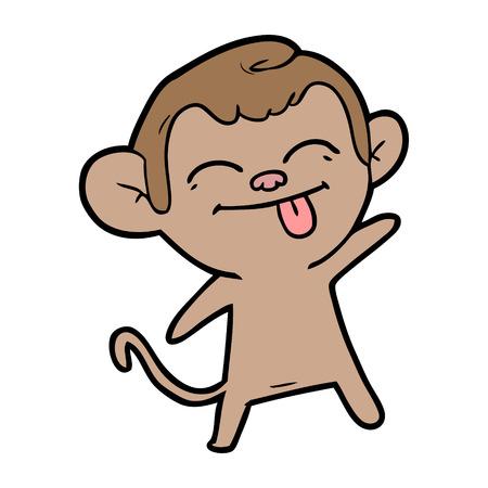 funny cartoon monkey Çizim