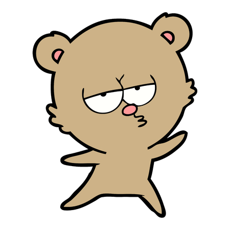 손으로 그린 지루 곰 만화 스톡 콘텐츠 - 94978058