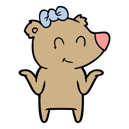 Cartone animato orso femmina Archivio Fotografico - 94853971