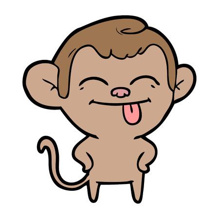 funny cartoon monkey Illustration