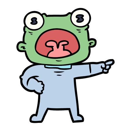 cartone animato strano alieno gridare