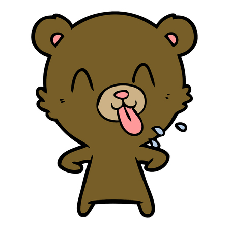 rude cartoon bear 일러스트