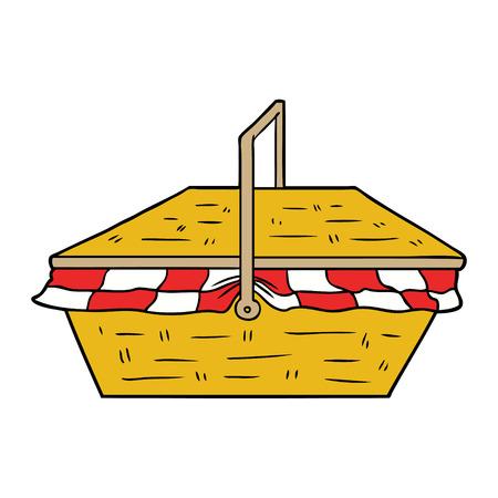 cartoon picnic basket Illustration