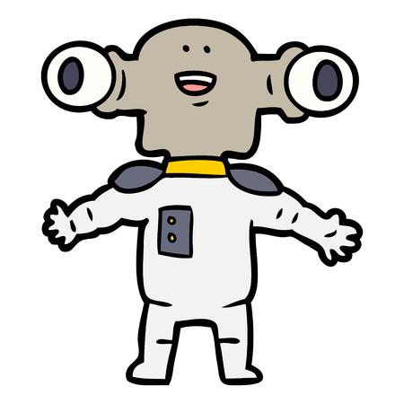 Alien amigável dos desenhos animados Foto de archivo - 94854614