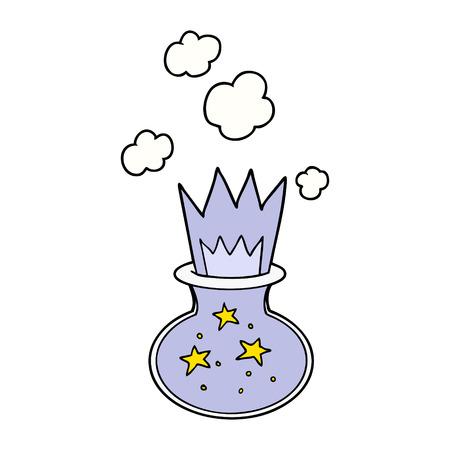 cartoon magic potion Illustration