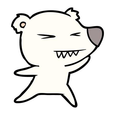 angry polar bear cartoon Stock Vector - 94854671