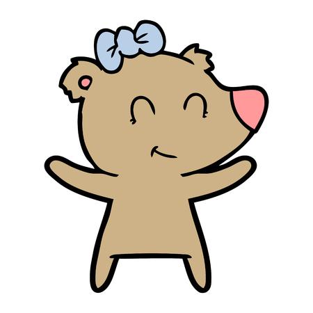 Cartone animato orso femmina Archivio Fotografico - 94854724