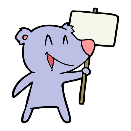 protester bear cartoon