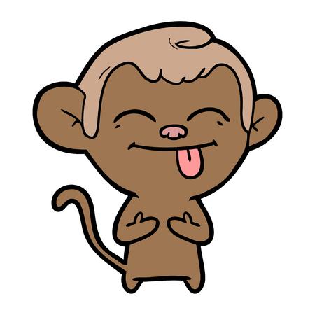 funny cartoon monkey Stok Fotoğraf - 94855206