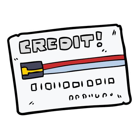 漫画のクレジットカード  イラスト・ベクター素材