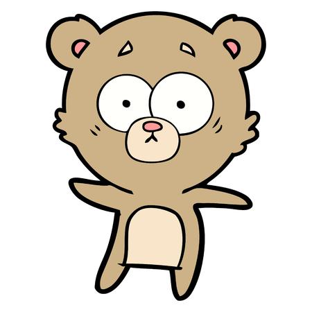 anxious bear cartoon Vectores