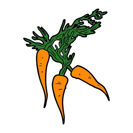 cartoon carrots Illustration