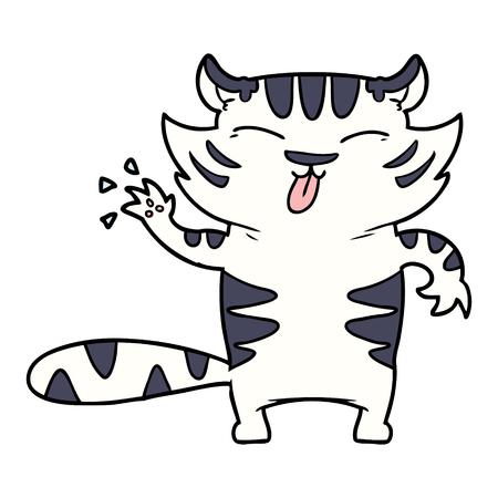cartoon witte tijger Stock Illustratie