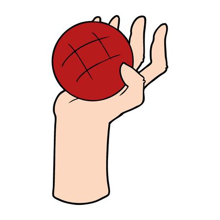 漫画の手投げボール