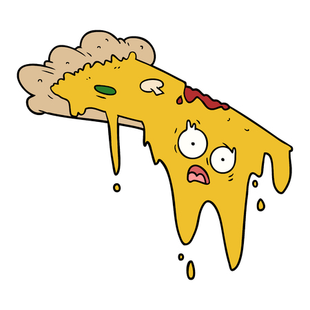 melting pizza cartoon Çizim