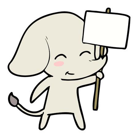 Elefante de dibujos animados lindo Foto de archivo - 94880371