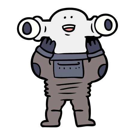 alieno amichevole dei cartoni animati