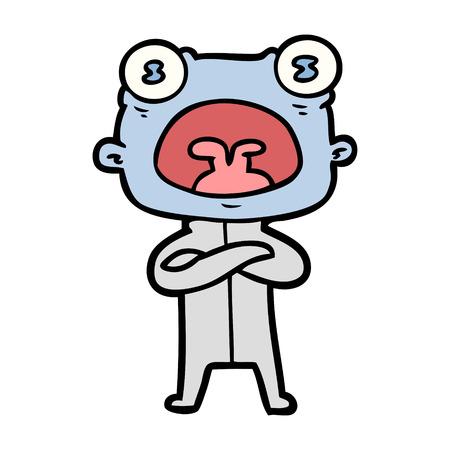 Estrangeiro estranho dos desenhos animados que comunica-se Foto de archivo - 94880500