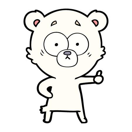 nervous polar bear cartoon